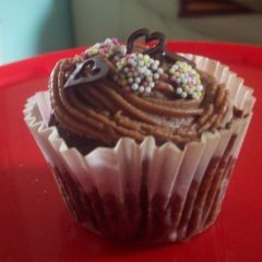 Chocolate Muffins & Milk Chocolate Frosting